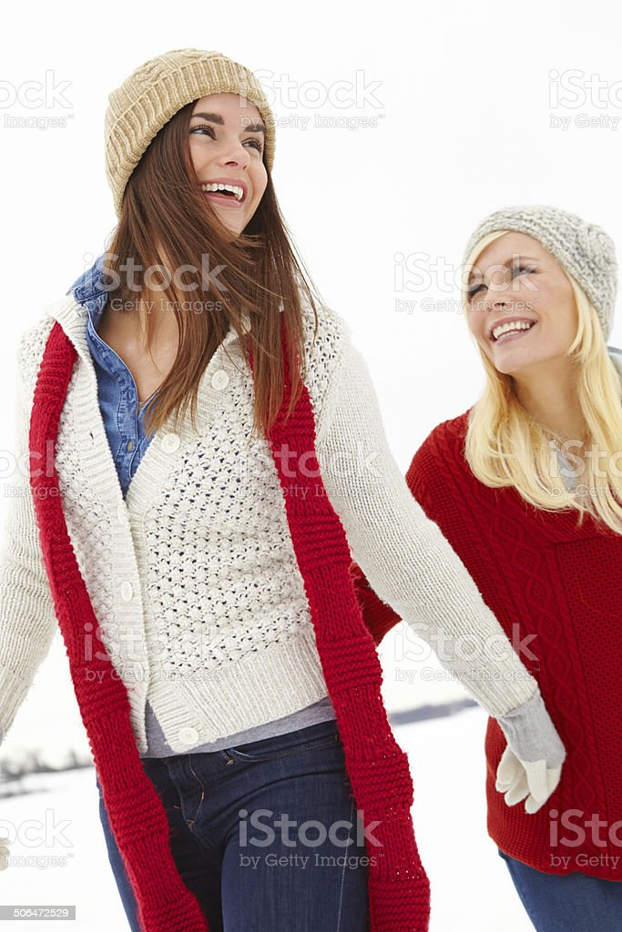 Wrapped up warm against the cold royalty-free stock photo