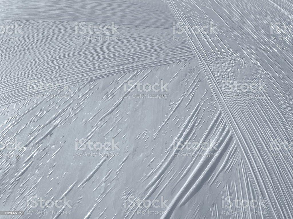 wrapped white plastic foil detail stock photo