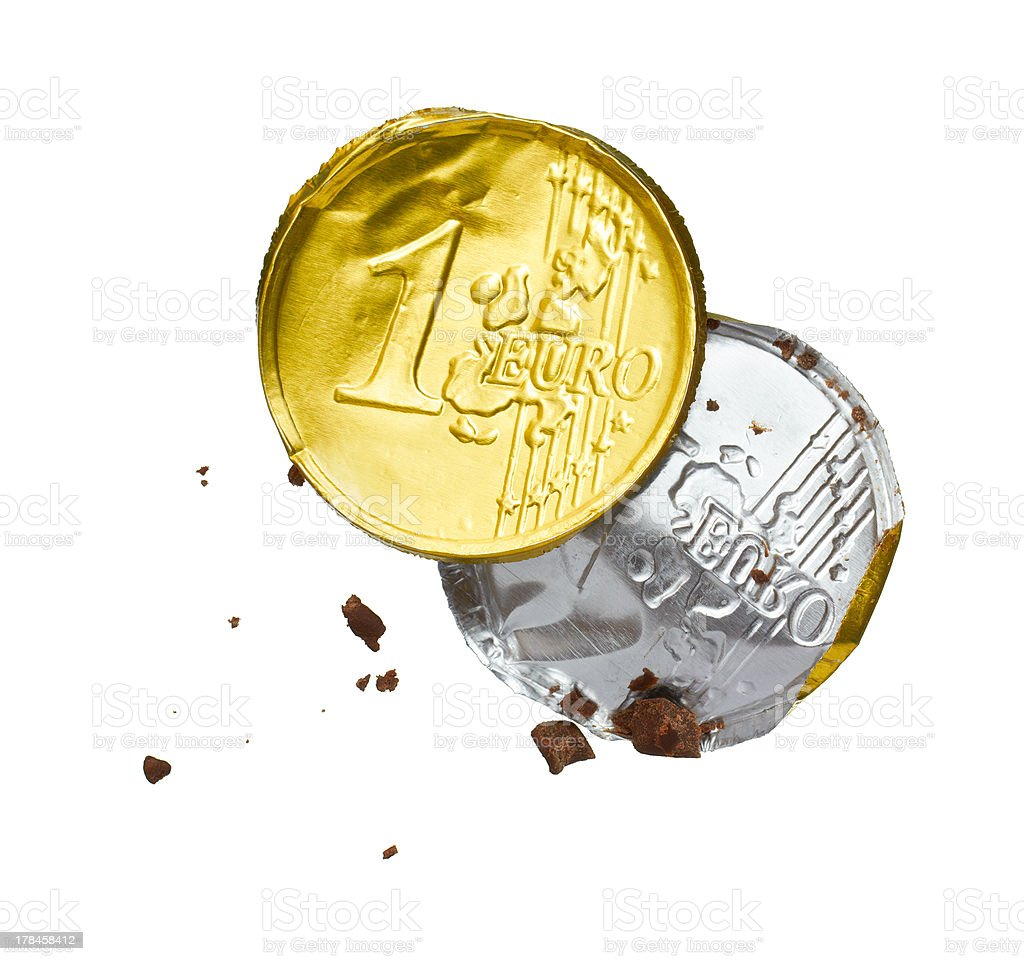 wrapper of the chocolate euro royalty-free stock photo