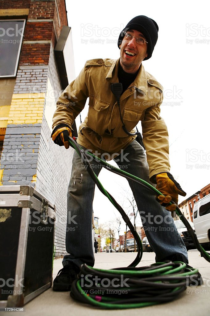 Wrapping Cable stock photo