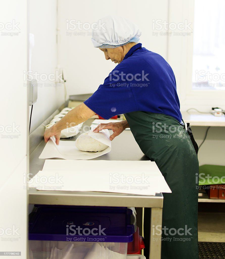 Wrapping cheese royalty-free stock photo