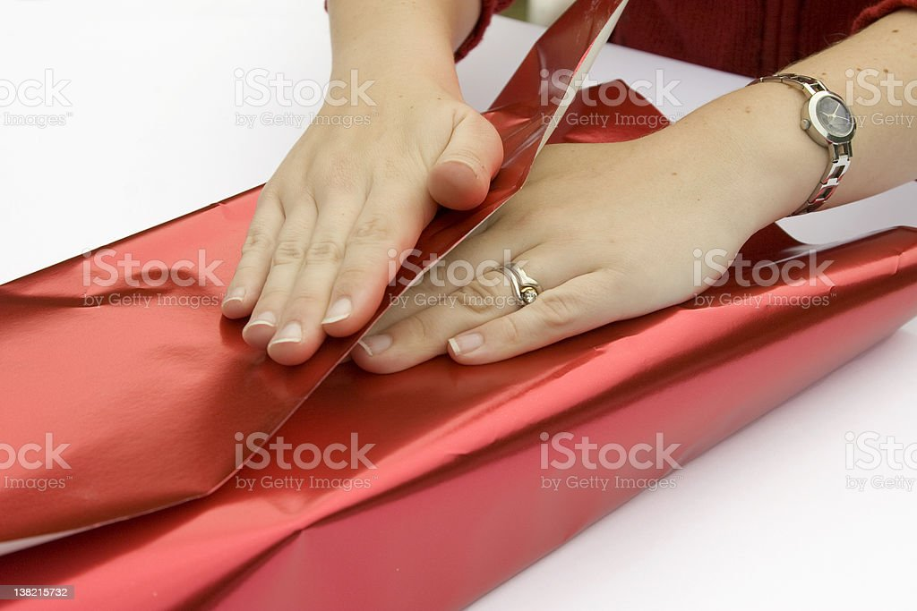 Wrapping Presents Series royalty-free stock photo