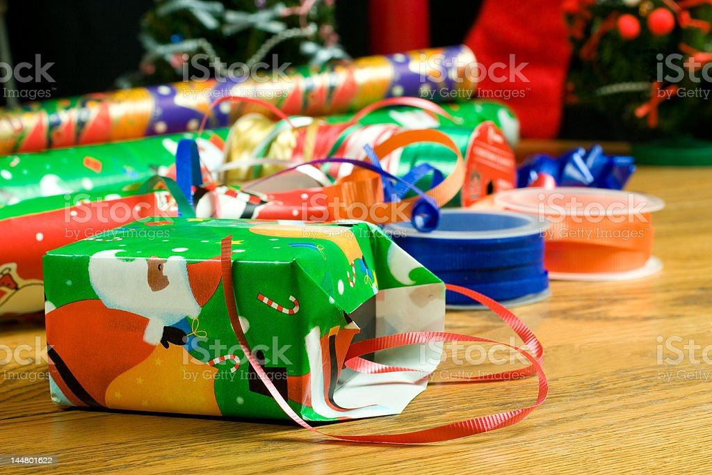 Wrapping the Gift stock photo