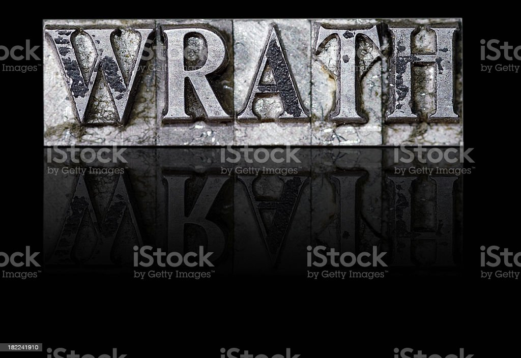 Wrath; a Deadly Sin royalty-free stock photo