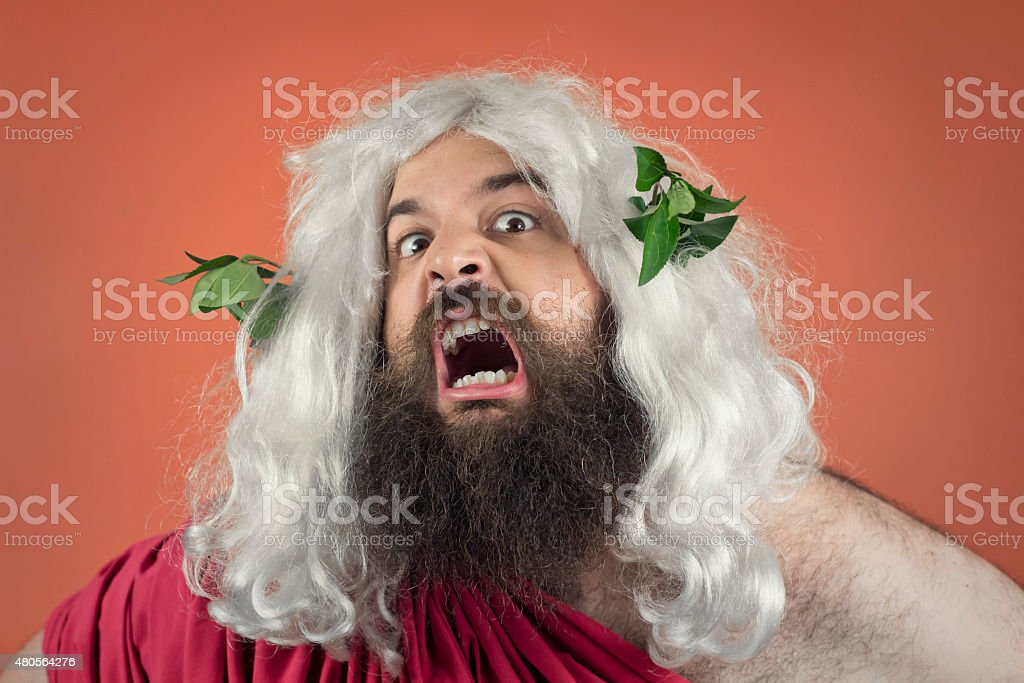 Wrath of God stock photo