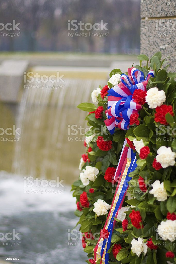 Wreath and Fountain royalty-free stock photo