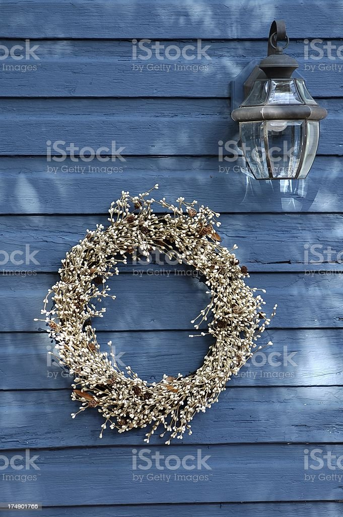 Wreath and Lamp royalty-free stock photo