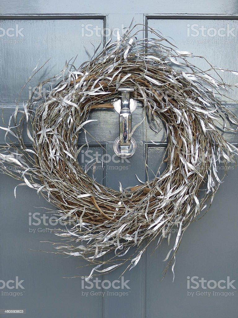 Wreath at christmas stock photo
