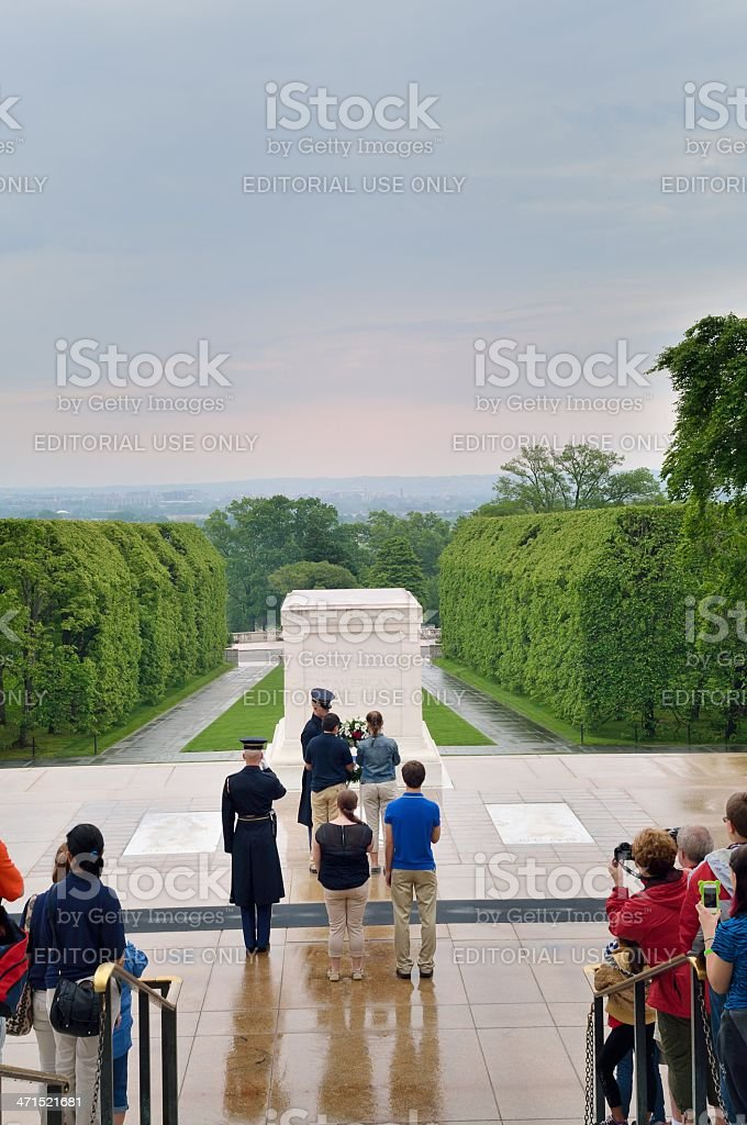 Wreath Laying At Tomb Of The Unknowns royalty-free stock photo