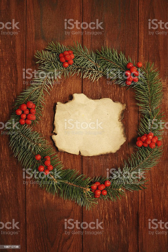 wreath of fir branches royalty-free stock photo