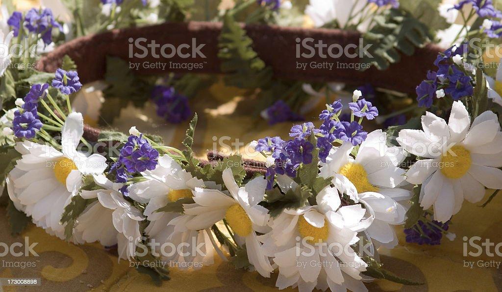 Wreath of flowers stock photo