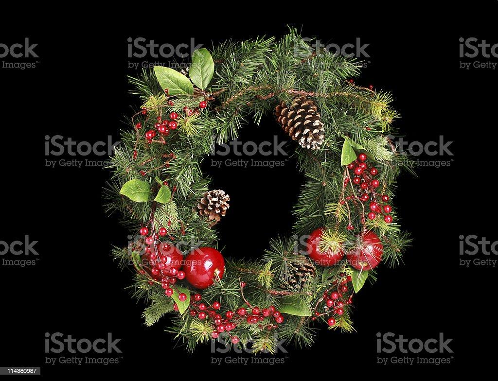 wreath on black stock photo