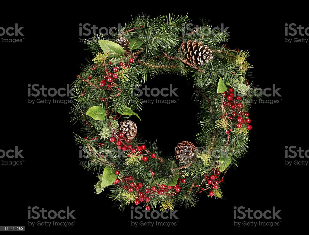 wreath on black royalty-free stock photo