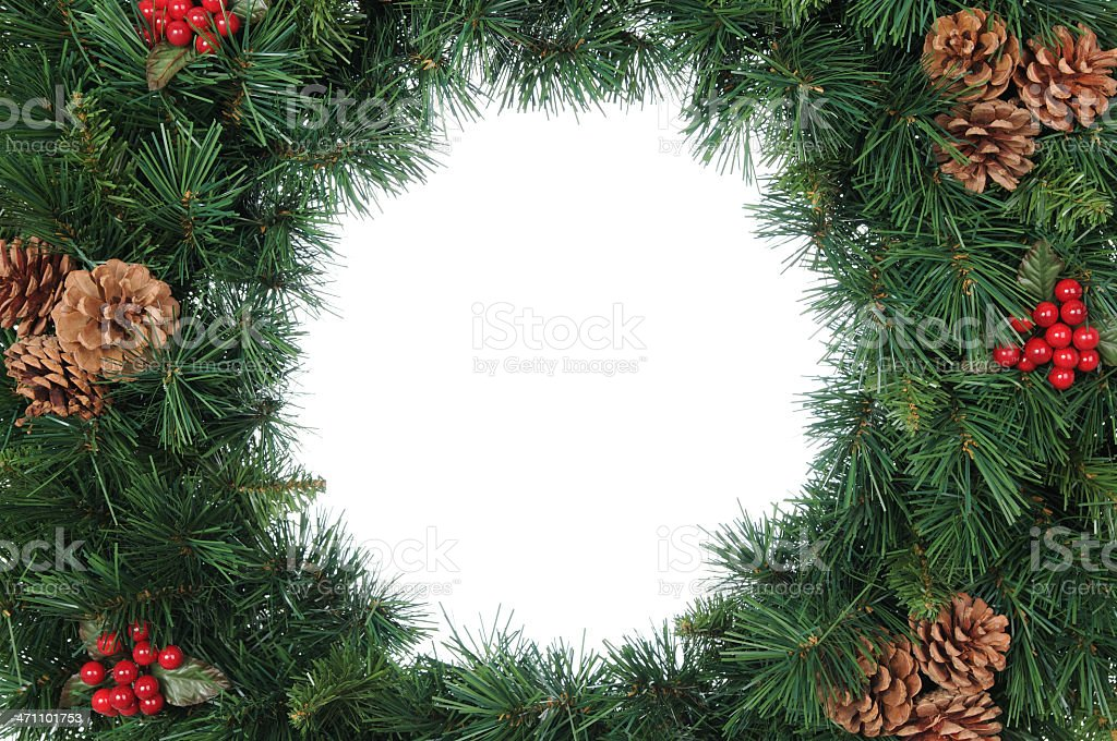 Wreath (copy space) royalty-free stock photo