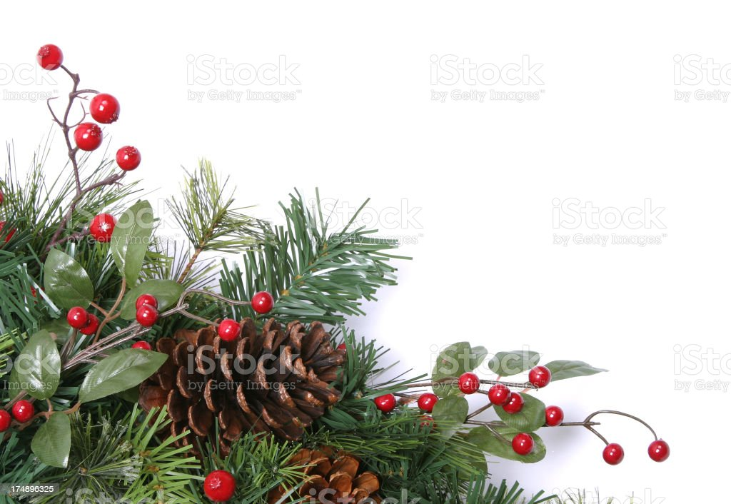 Wreath Series (isolated on white with copyspace) stock photo