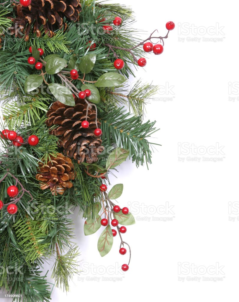 Wreath Series (isolated on white with copyspace) royalty-free stock photo
