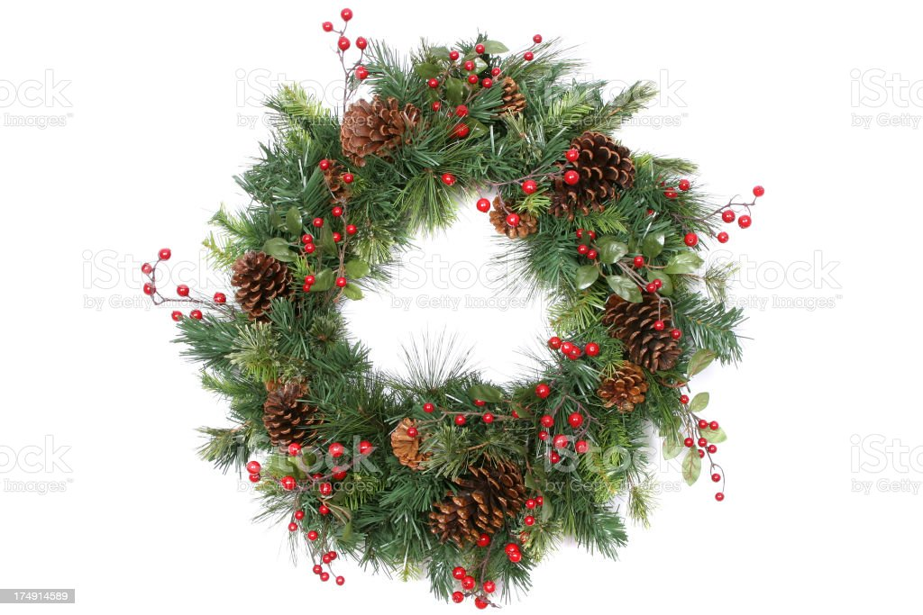 Wreath Series (isolated on white) stock photo