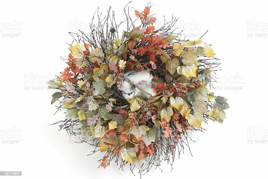 Wreath Series (isolated on white) royalty-free stock photo