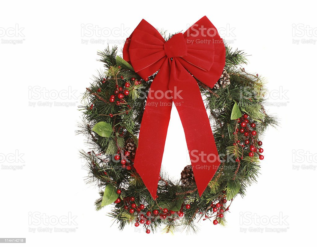 wreath with bow royalty-free stock photo