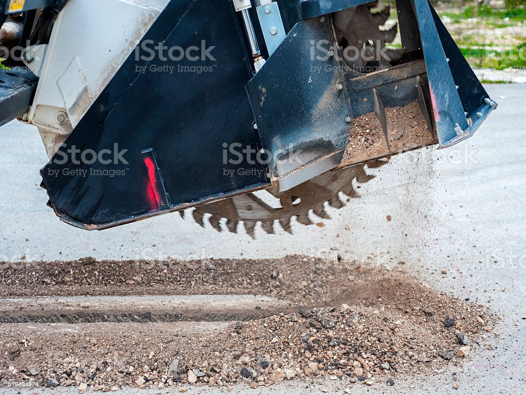 wreath with cones for drilling rock stock photo