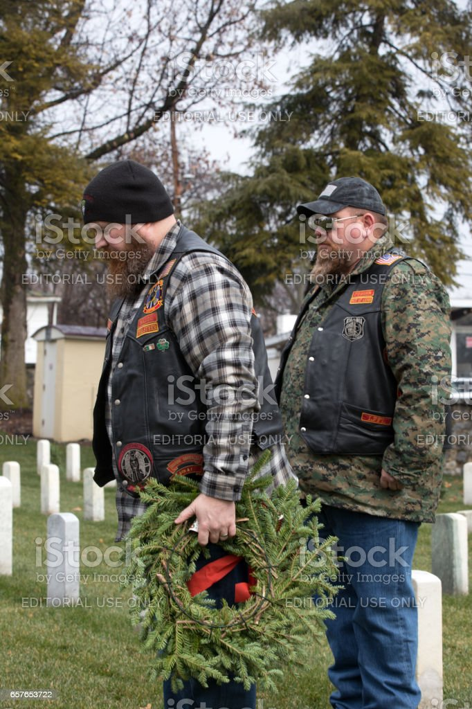 Wreaths across America stock photo