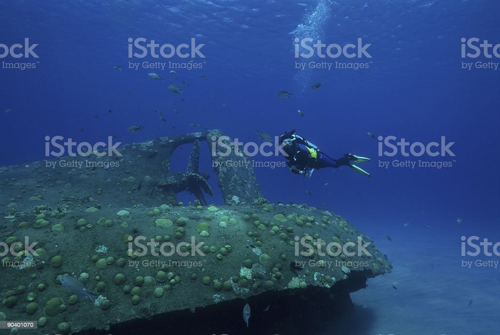 Wreck Dive Curacao royalty-free stock photo