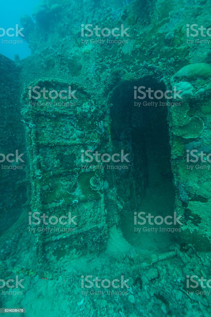Wreck Dive - Palau, Micronesia stock photo