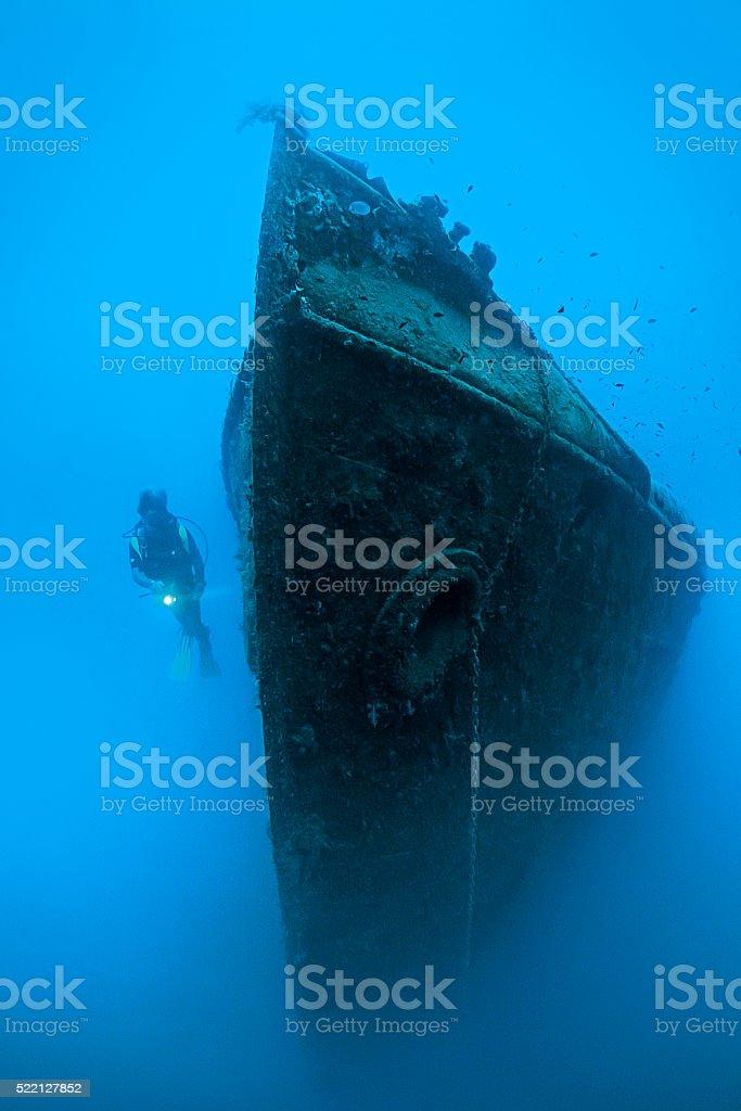 Wreck Diver stock photo