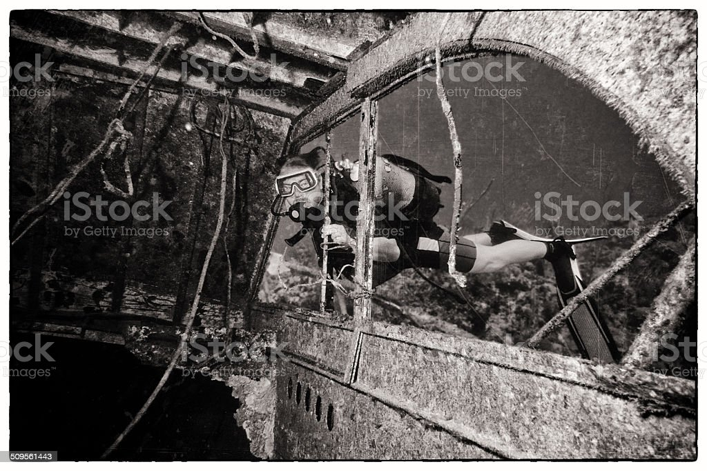 Wreck Diving stock photo