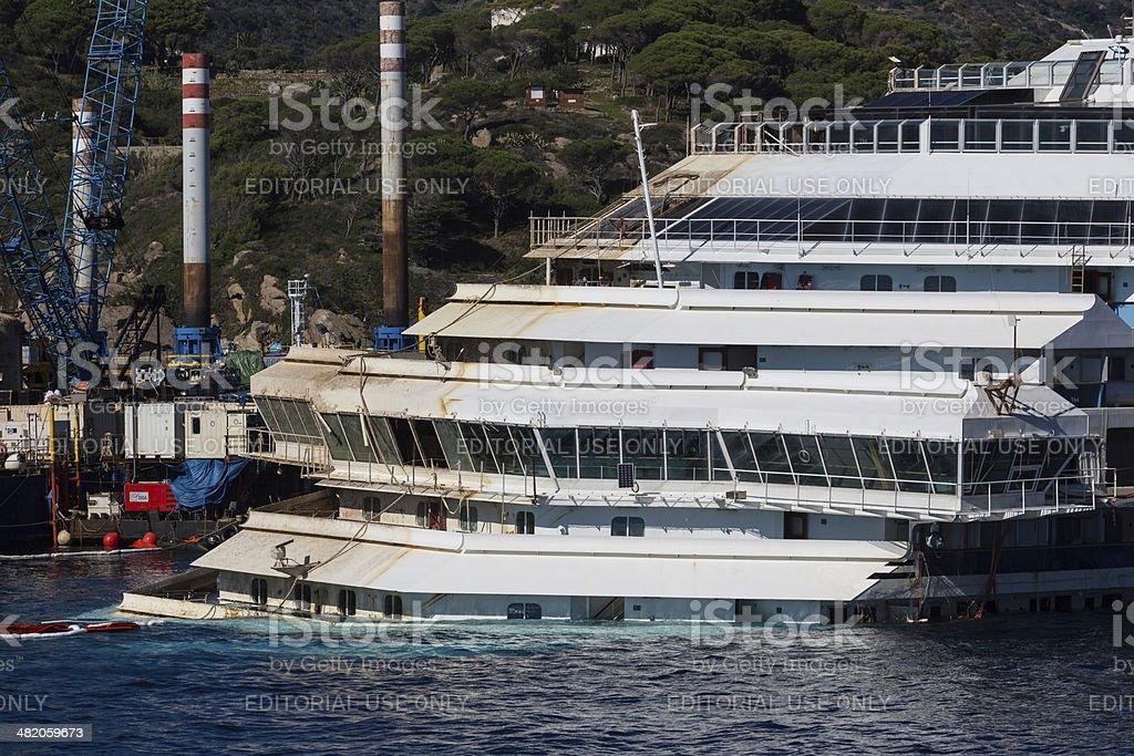 Wreck Of Costa Concordia stock photo