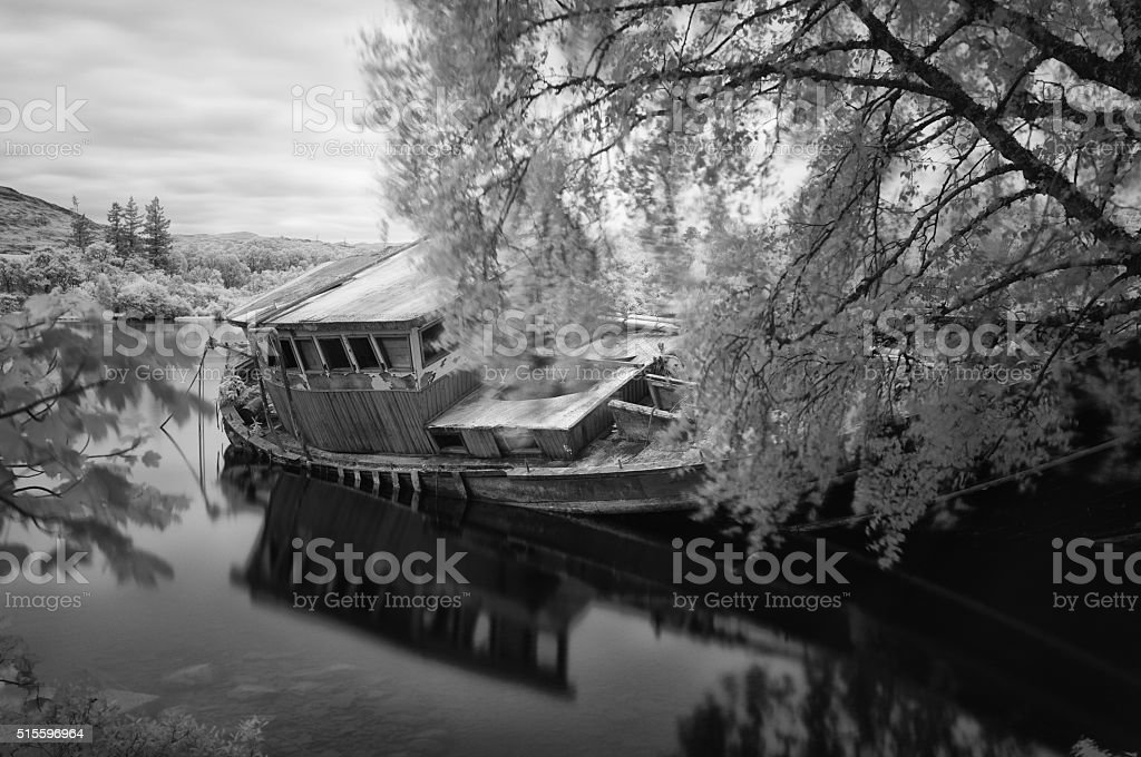 Wreck Of Loch Ness stock photo