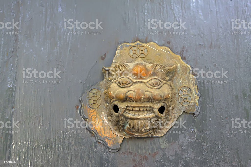 wreck of the metal decorations royalty-free stock photo