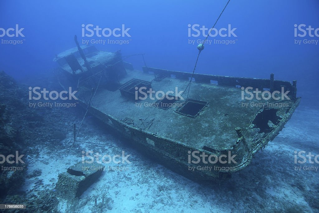 Wreck of the Mr. Bud royalty-free stock photo