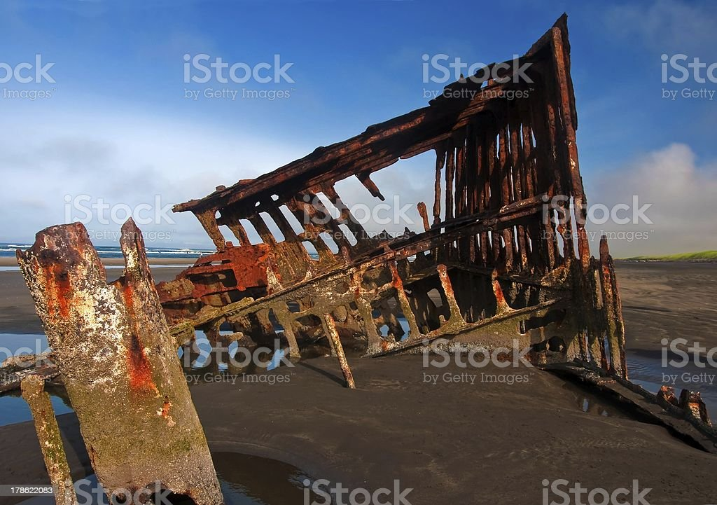 Wreck of the Peter Iredale royalty-free stock photo