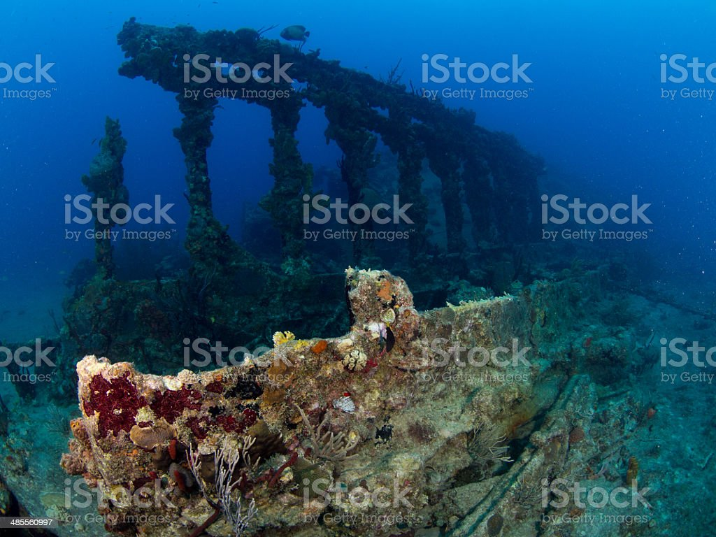 Wreck of the Rhone, Columns stock photo