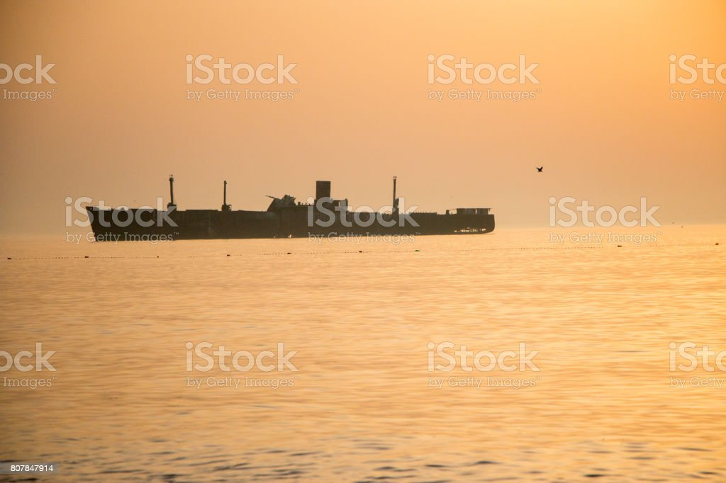 Wreck ship from Costinesti stock photo