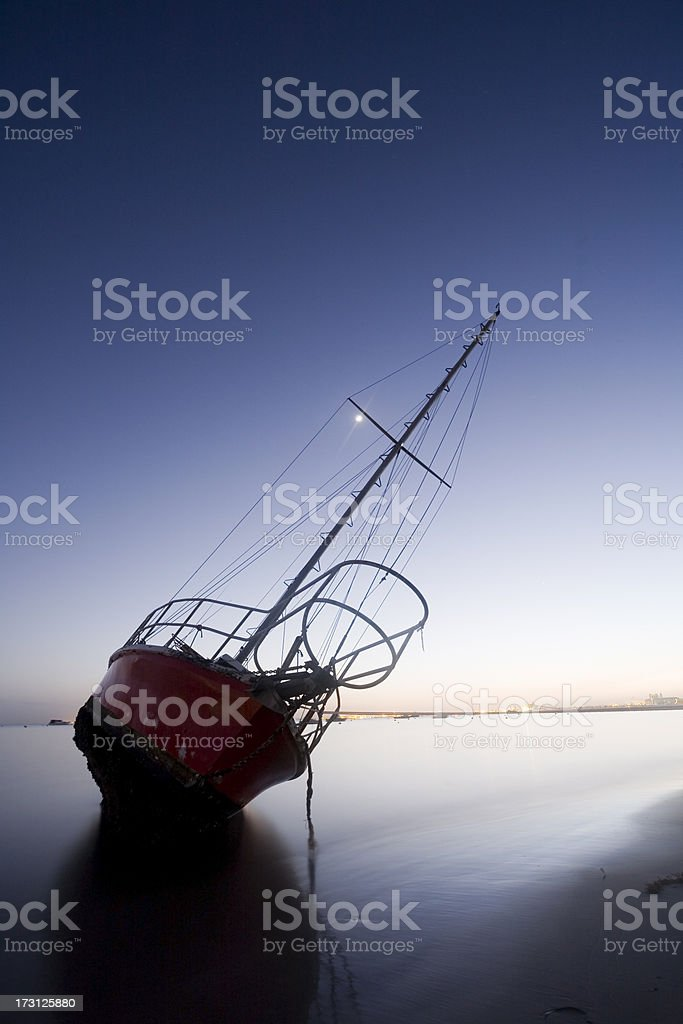 Wreck Silhouette royalty-free stock photo