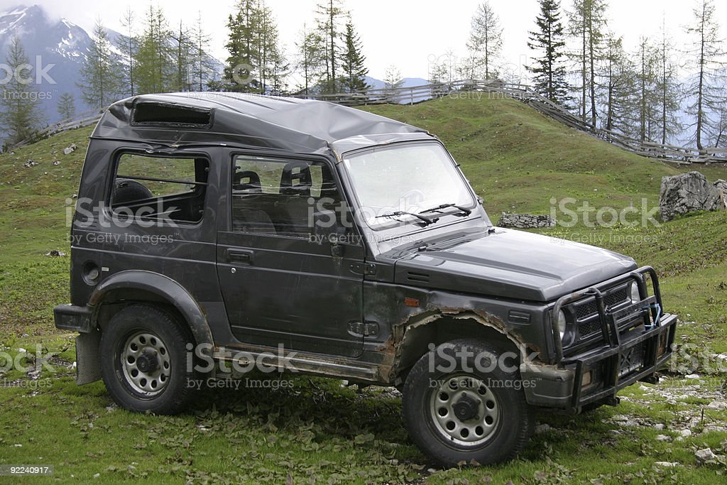 Wrecked  All roader stock photo