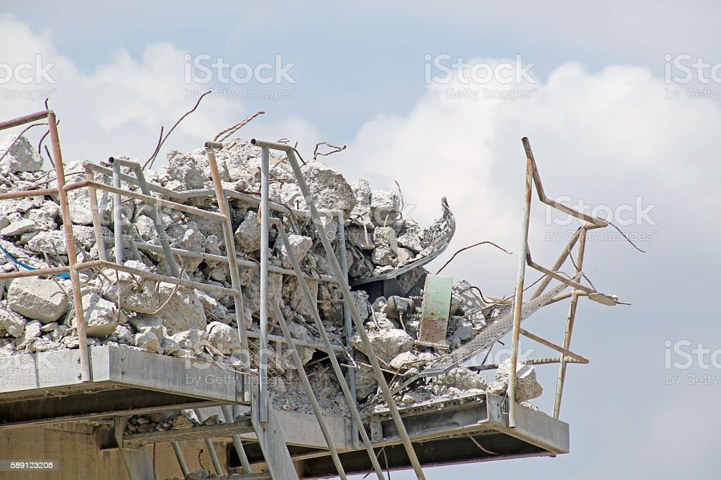 Wrecked and Rocks stock photo