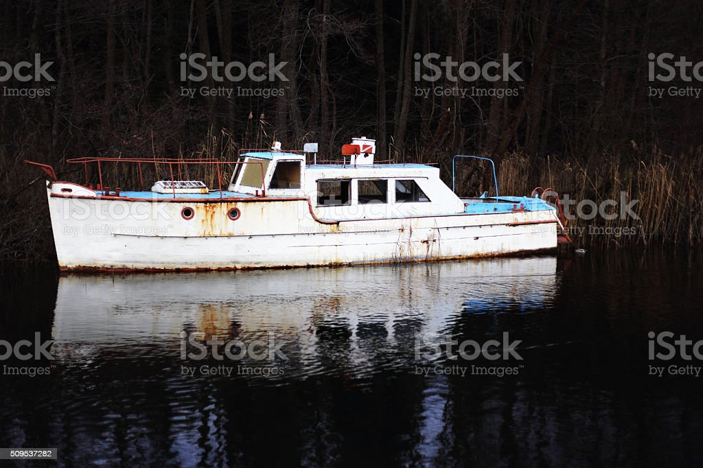 Wrecked Boat royalty-free stock photo