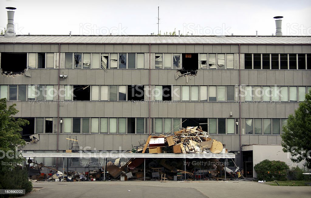 Wrecked building royalty-free stock photo