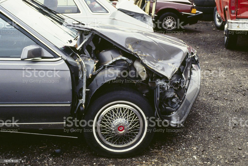 Wrecked Car 1, Crash, Accident royalty-free stock photo