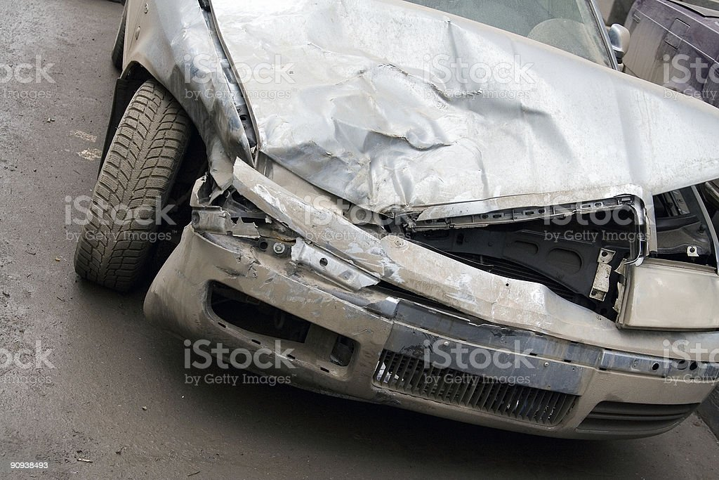 Wrecked Car 2 stock photo