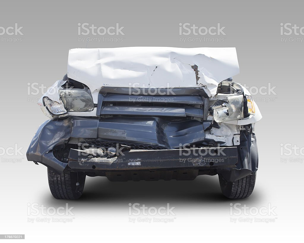 Wrecked Car Crash Accident Vehicle royalty-free stock photo