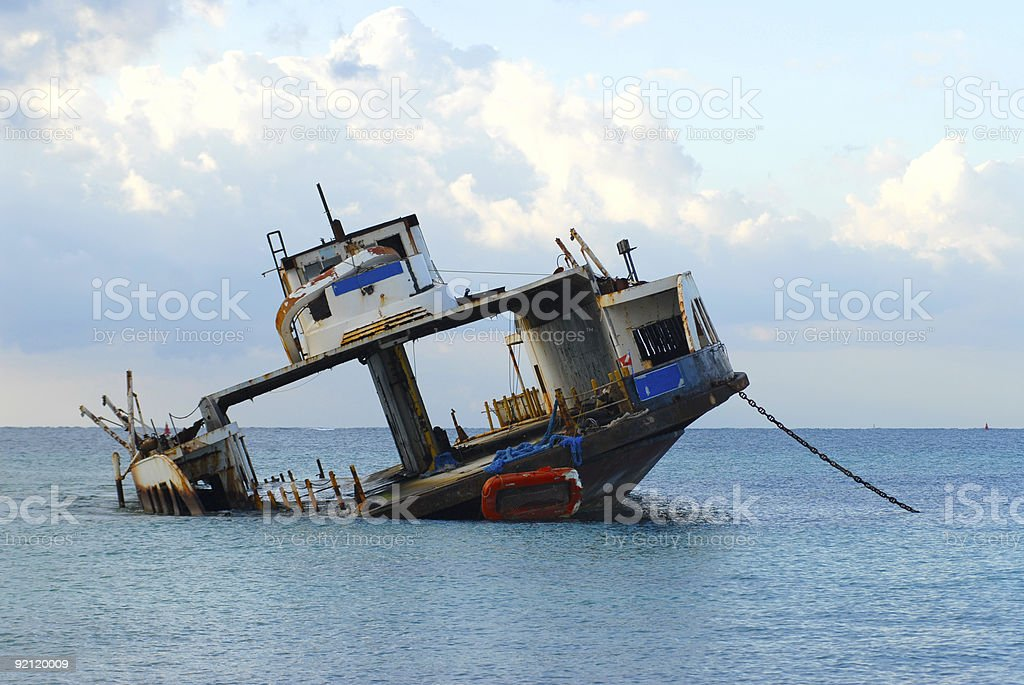 Wrecked Car Ferry royalty-free stock photo