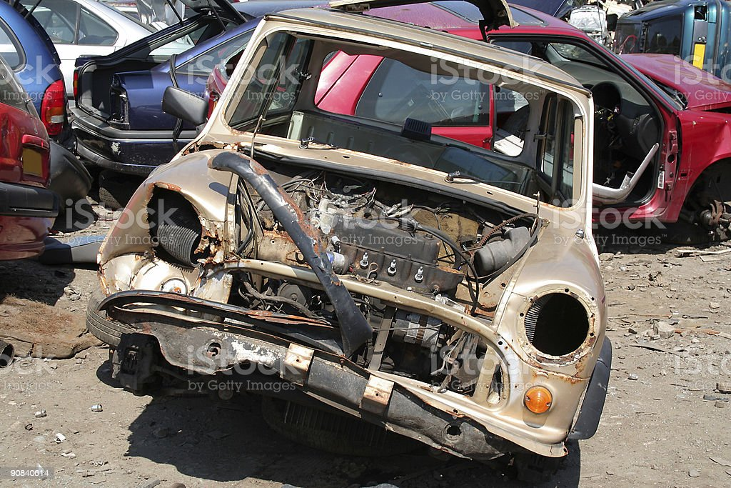 wrecked car royalty-free stock photo
