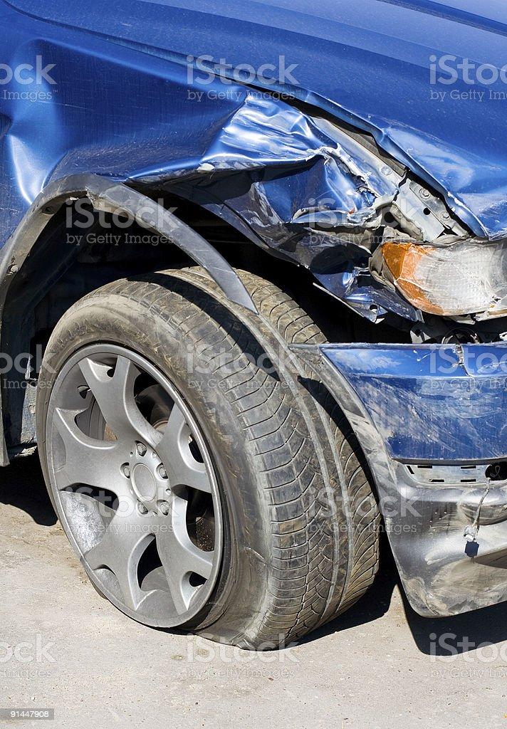 Wrecked Car. Vertical stock photo
