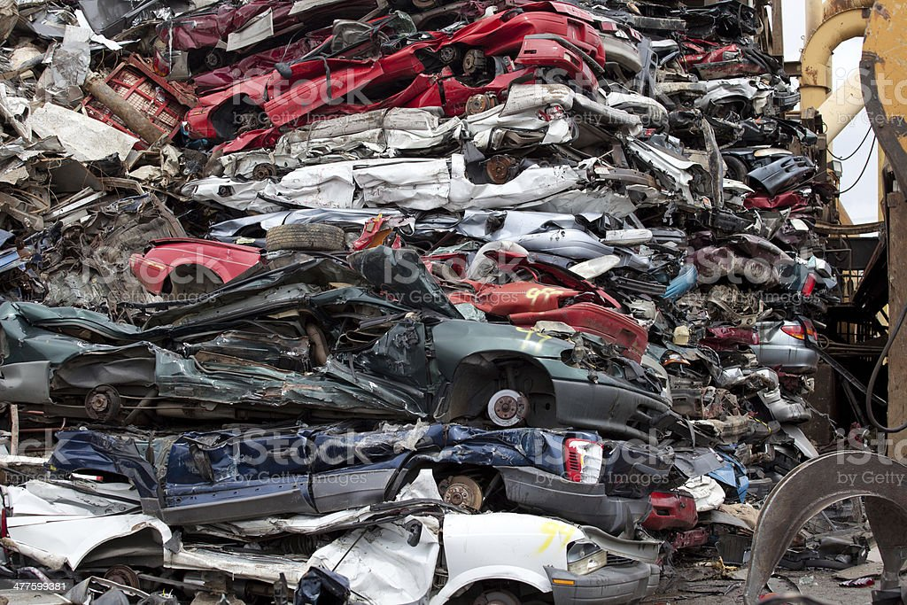 Wrecked cars royalty-free stock photo