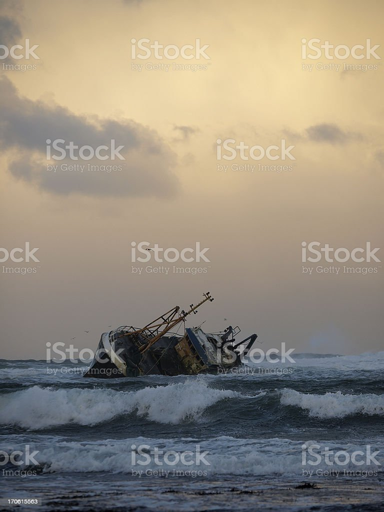 Wrecked Fishing Vessel royalty-free stock photo