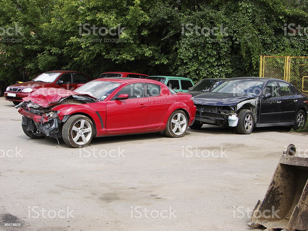 wrecked royalty-free stock photo